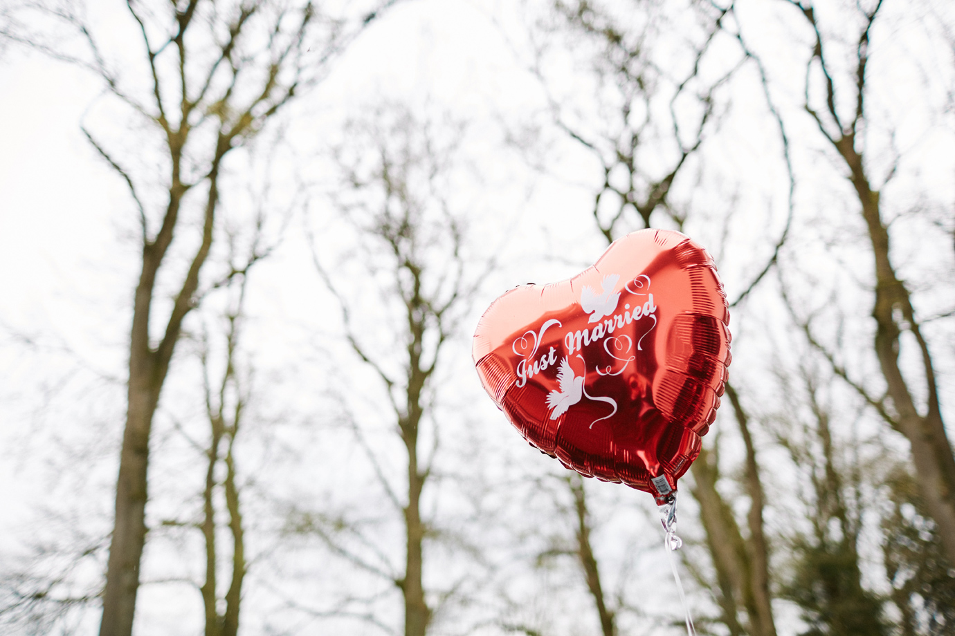 hochzeit luftballon just married