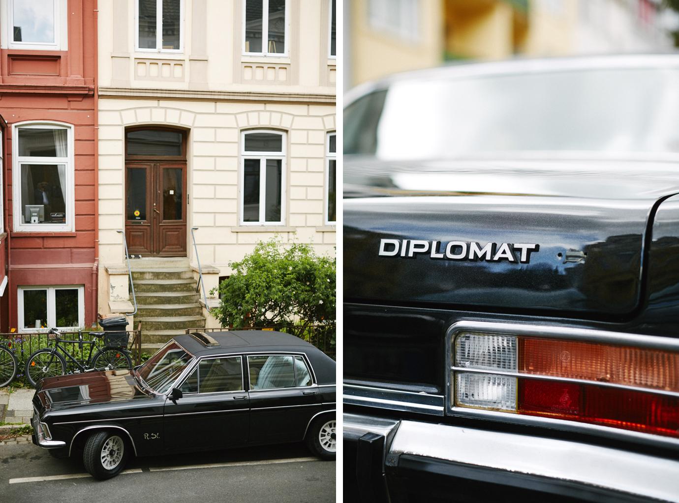hochzeitsauto opel diplomat