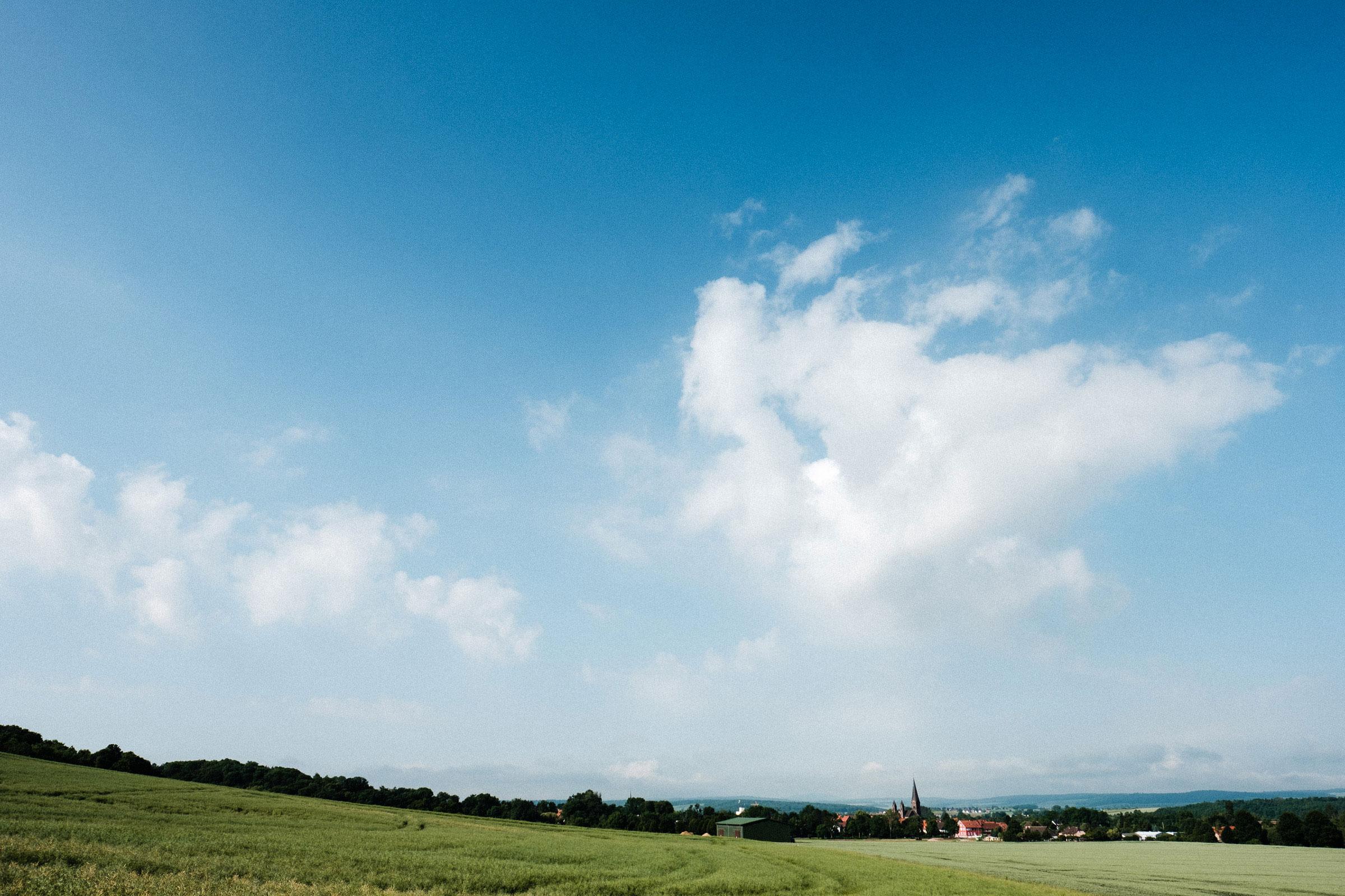 Blick über die Felder von Hardenberg