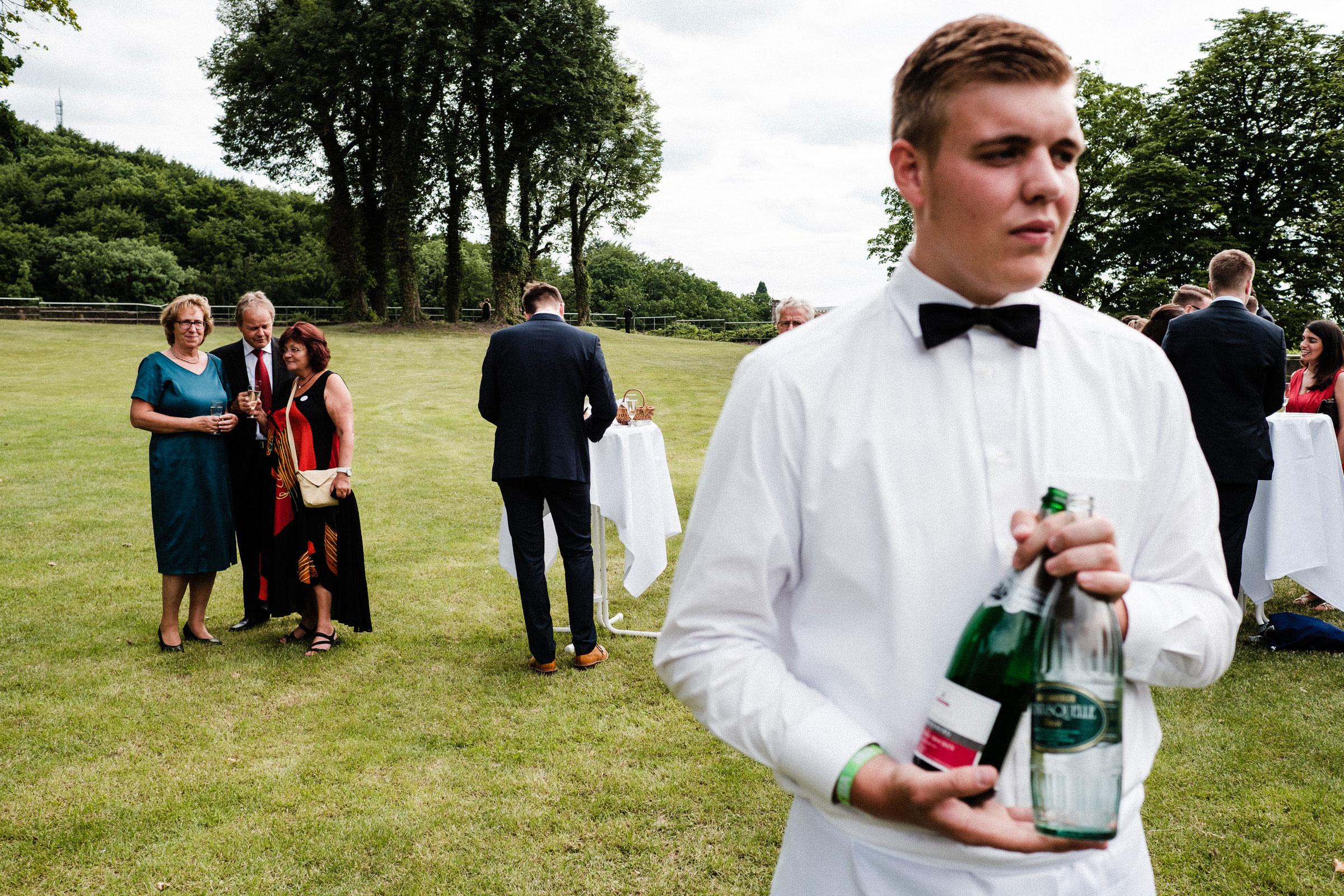Sektempfang auf der Hochzeitsfeier in Hardenberg