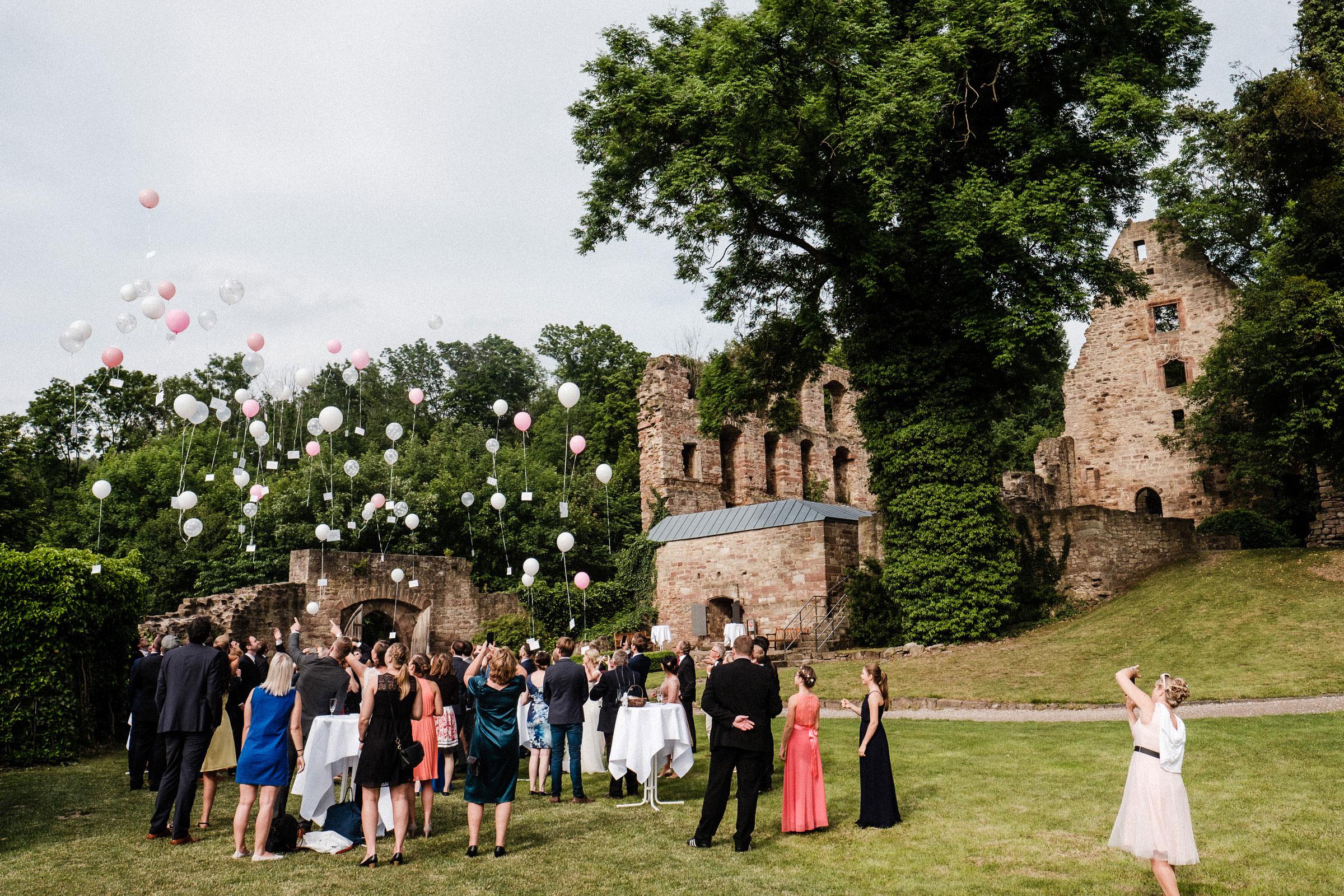 Luftballons auf der Hochzeit in Göttingen