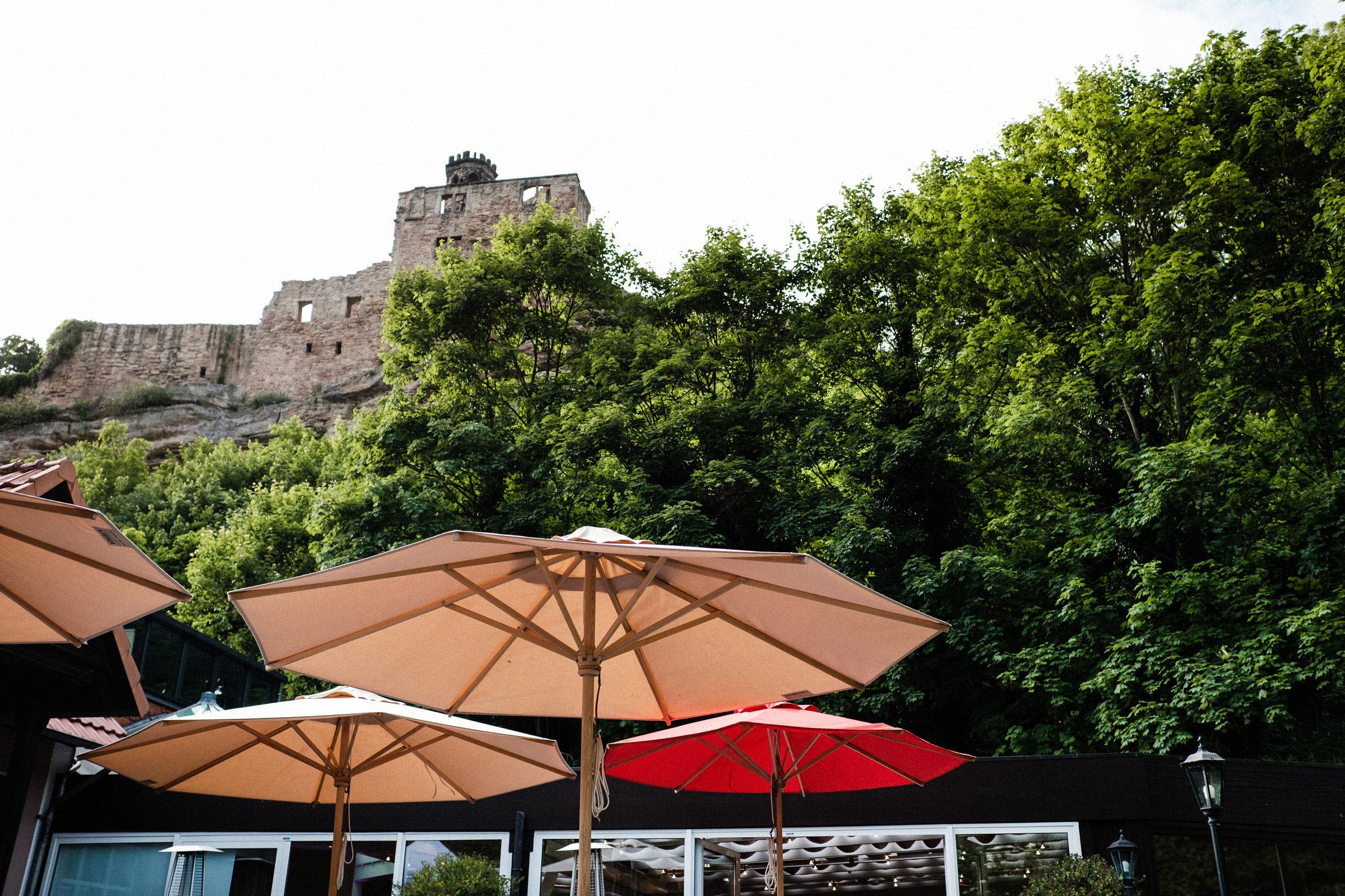 Burghotel Hardenberg am Fuß der Burgruine
