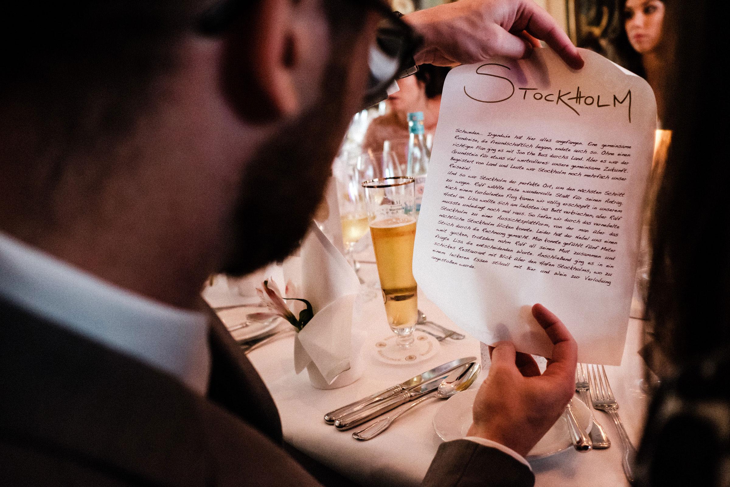 Tischdekoration Hochzeitsfeier Burghotel Hardenberg