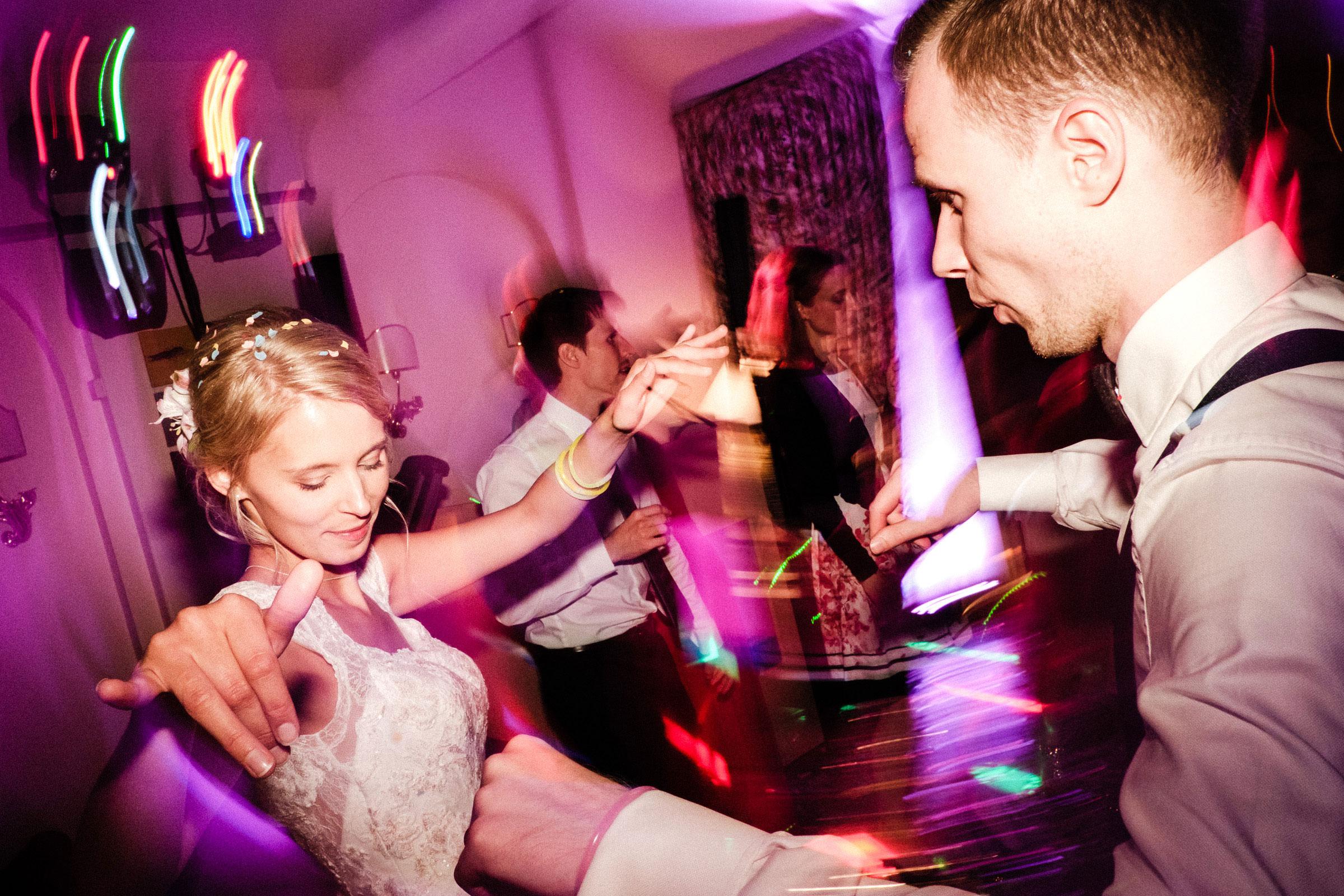 Hochzeitsparty im Burghotel Hardenberg